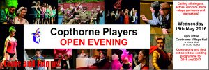 Copthorne Players Open Evening 18th May 2016