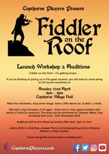 Fiddler On The Roof November 2018 Copthorne Players